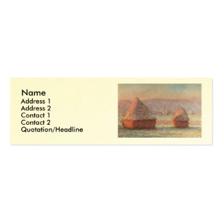 Claude Monet's White Frost Sunrise (1889) Pack Of Skinny Business Cards