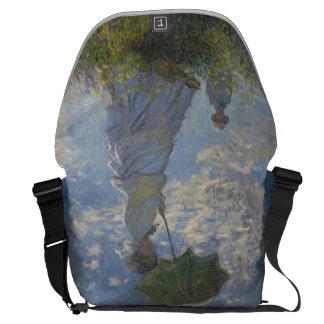 Claude Monet's Woman with a Parasol Courier Bags