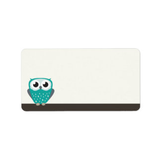 Claude the Little Owl | Blank Address Labels