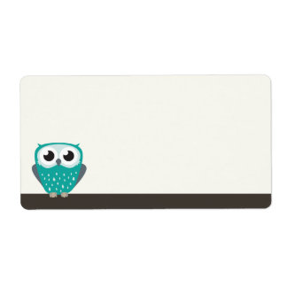 Claude the Little Owl | Blank Shipping Labels