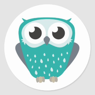 Claude the Little Owl Classic Round Sticker