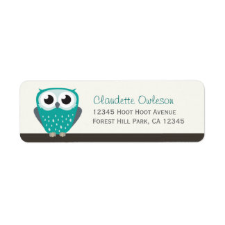 Claude the Little Owl | Return Address Labels