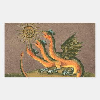 Clavis Artis Alchemy Dragons Leather Rectangular Sticker
