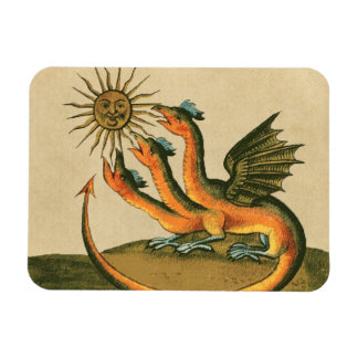 Clavis Artis Alchemy Dragons Rectangular Photo Magnet