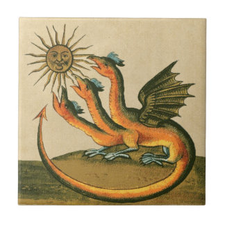 Clavis Artis Alchemy Dragons Small Square Tile