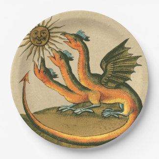 Clavis Artis Dragons Paper Plate