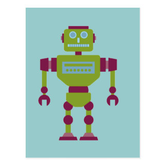 Claw Handed Robot Post Card