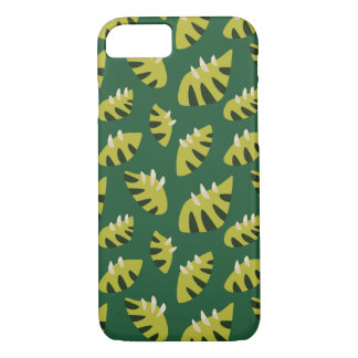 Clawed Abstract Green Leaf Pattern iPhone 8/7 Case