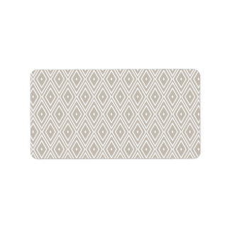 Clay and White Diamond Pattern Label