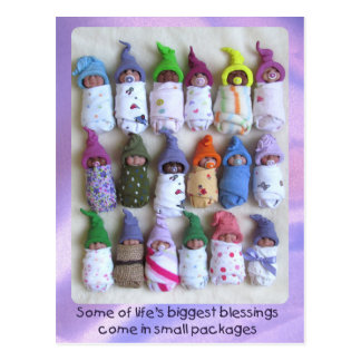 Clay Babies, Large Group, Life's Biggest Blessings Postcard