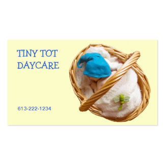 Clay Baby in Basket: DAYCARE BUSINESS CARD