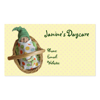 Clay Baby in Basket: Daycare Business, Kids Pack Of Standard Business Cards