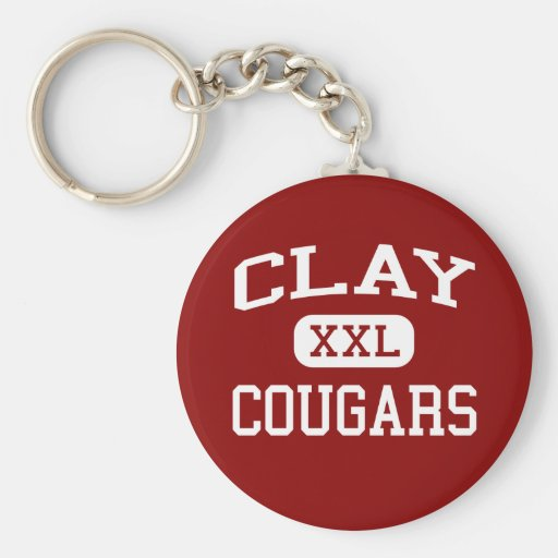 Clay - Cougars - Middle - South Bend Indiana Key Chains