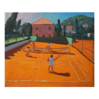 Clay Court Tennis Lapad Croatia 2012 Poster