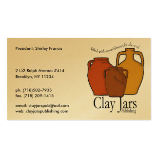 Clay Jars Publishing Pack Of Standard Business Cards