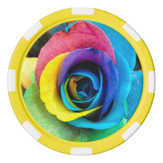 "Clay Poker Chip - ""Colorful Rose"" by SnapDaddy Poker Chips"
