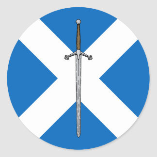 Claymore and Saltire Classic Round Sticker