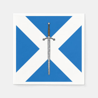Claymore and Saltire Disposable Napkin