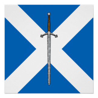 Claymore and Saltire Poster