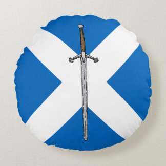 Claymore and Saltire Round Cushion