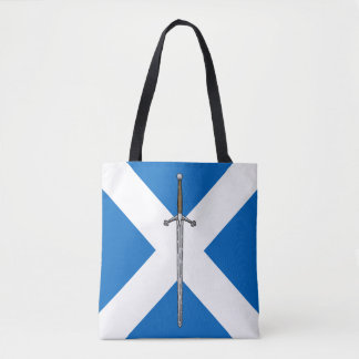 Claymore and Saltire Tote Bag