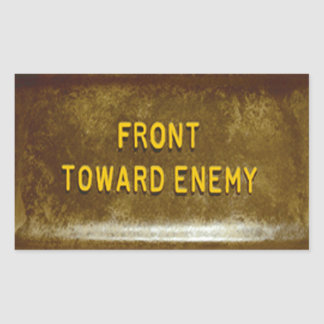 Claymore Mine Phone Cover Mk I Front Toward Enemy Rectangular Sticker