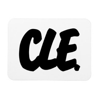 CLE Letters Rectangular Photo Magnet