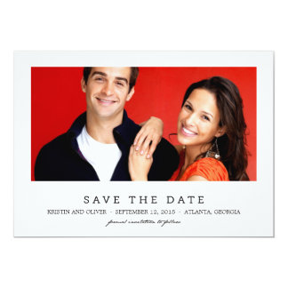 CLEAN 1 PHOTO Save The Date Cards 13 Cm X 18 Cm Invitation Card