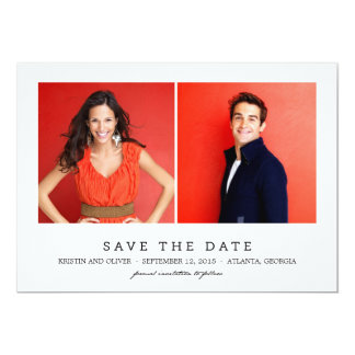 CLEAN 2 PHOTOS Save The Date Cards 13 Cm X 18 Cm Invitation Card
