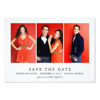 CLEAN 3 PHOTOS Save The Date Cards 13 Cm X 18 Cm Invitation Card