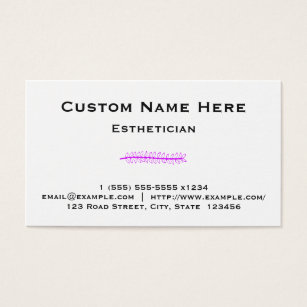 Beautician esthetician business cards business card printing clean and basic esthetician business card colourmoves