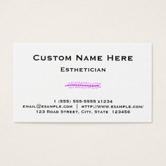 Clean and Basic Esthetician Business Card