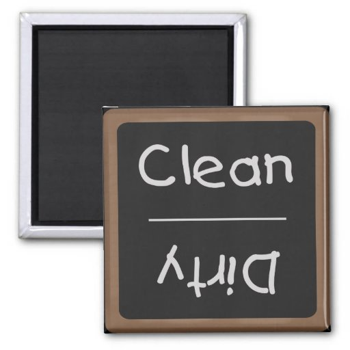 Clean and Dirty Dishes Chalkboard Magnet