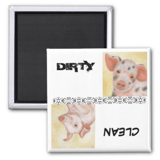 Clean and Dirty Piggie Dishwasher Magnet