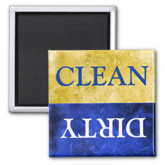 clean and dirty sign for dishwasher square magnet