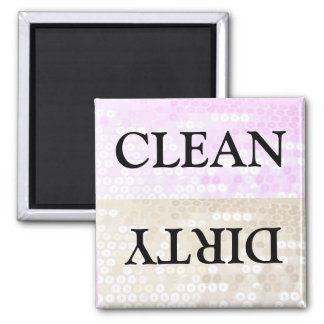 Clean and Dirty Square Magnet