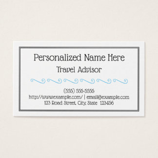 Clean and Low-Key Travel Advisor Business Card