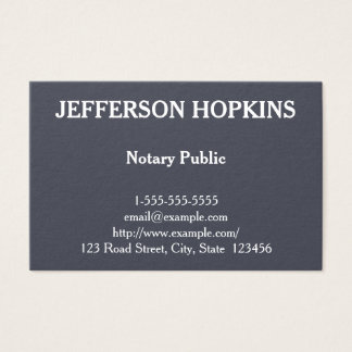 Clean and Plain Notary Public Business Card