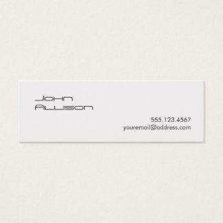 Clean and Simple Professional White Business Card