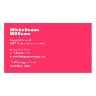 Clean and Sleek Pink Business Card