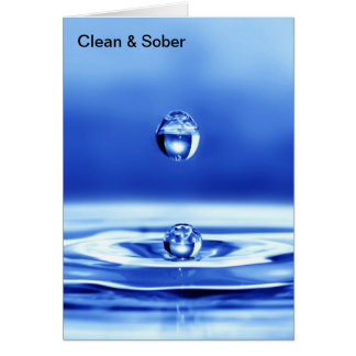 Clean and Sober Card