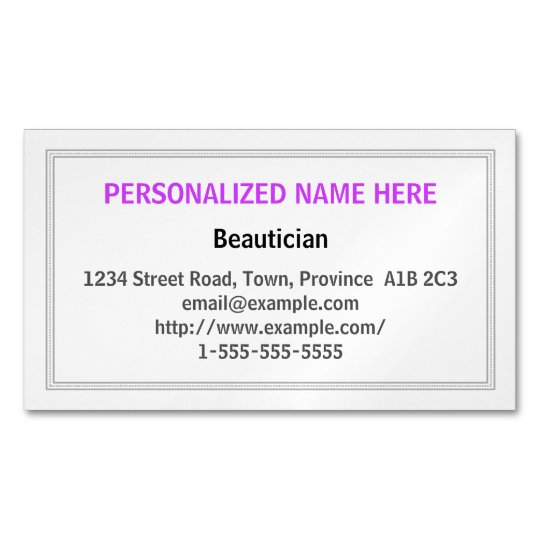 Clean and Understated Beautician Business Card