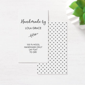 Clean Black & White Handmade by Business Card