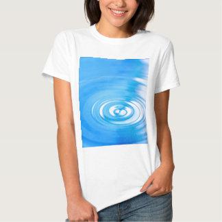 Clean blue water ripples tees