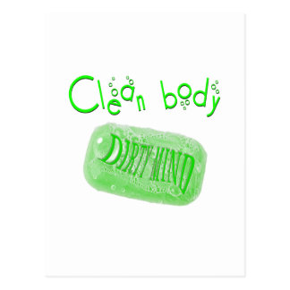 Clean body Dirty mind soap message! Postcard