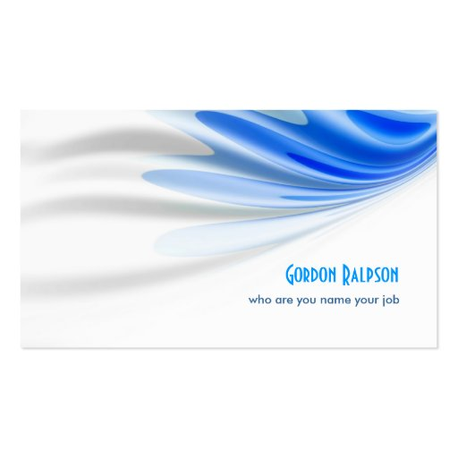 clean business card style