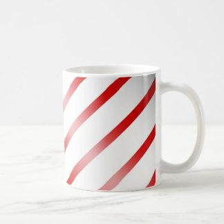 Clean Candy Cane Basic White Mug