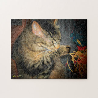 Clean Cat or Add Your Own Photo Jigsaw Puzzle