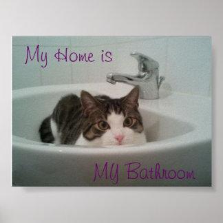 Clean Cat Poster