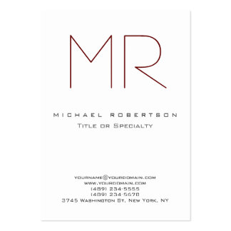 Clean Chic Monogram Large Business Card